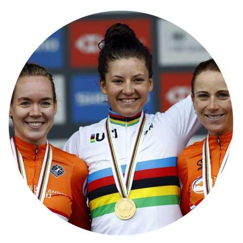 Chloe Dygert winning the 2019 women's time trial world championships